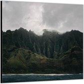Dibond –Bergen aan het Water– 80x80 Foto op Aluminium (Wanddecoratie van metaal)