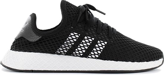 adidas Originals Deerupt Runner - Heren Sneakers Sportschoenen Schoenen  Zwart BD7890 - Maat EU 46 2/3 UK 11.5