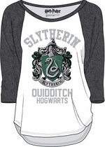 HARRY POTTER - T-Shirt Slytherin Quidditch - White / Grey (XXL)