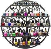 Confibel Nagellak Houder - Nagellak Flesjes Organizer - Essentiële Oliën Organizer - Rek voor Flesjes - Wanddecoratie - Zwart