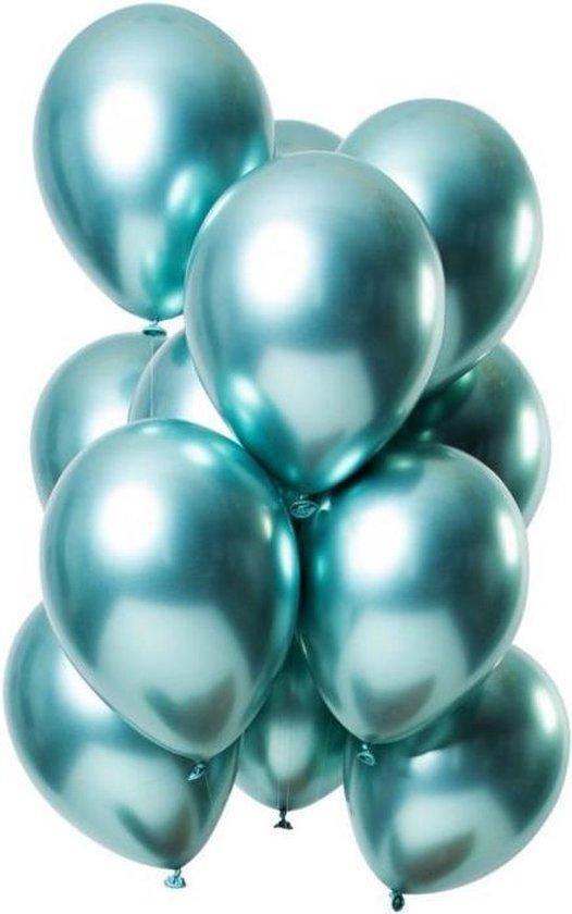 20 Luxe Groene Chrome Ballonnen