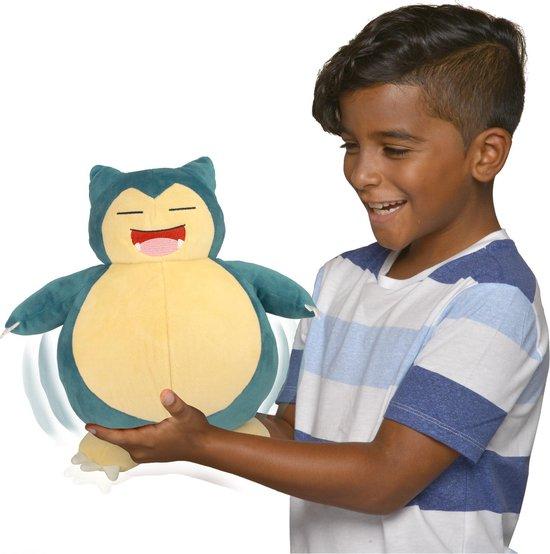 Pokémon - Snooze Action Slapende Snorlax - Interactieve knuffel