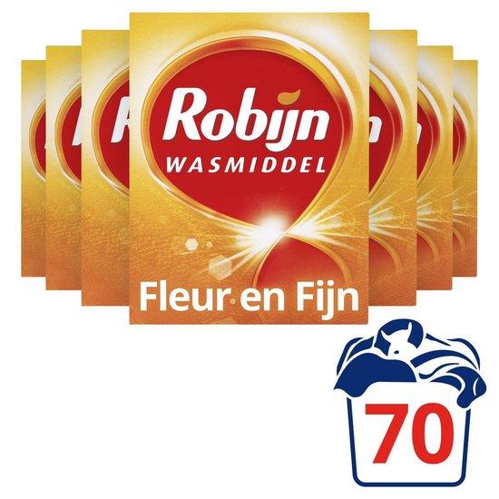 Robijn Fleur & Fijn Waspoeder - 7 x 10 wasbeurten - Voordeelverpakking