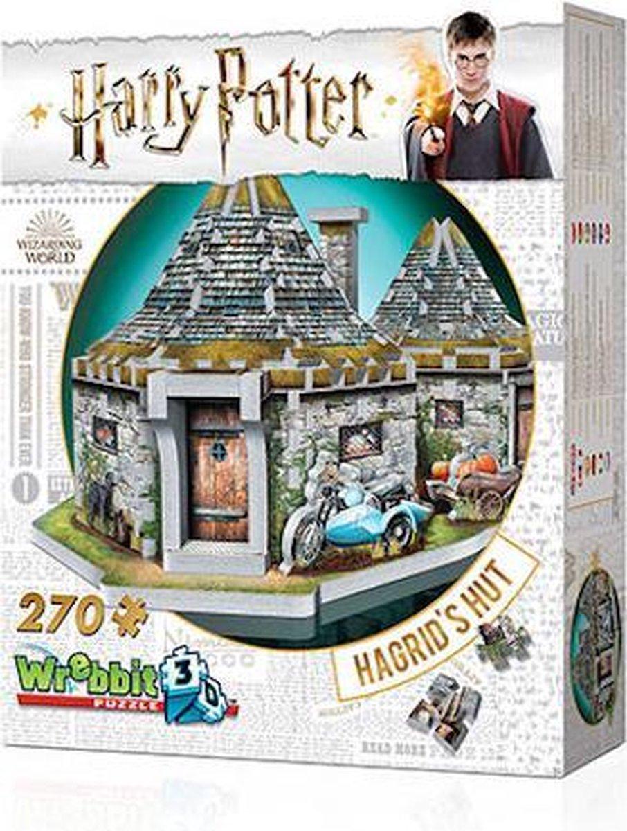 Wrebbit 3D Puzzel - Harry Potter Hagrid's Hut - 270 stukjes