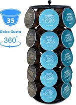 ViveGrace Capsulehouder Voor Dolce Gusto Cups - Coffee Cups Houder voor Dolce Gusto Capsules - 35 Capsules - Draaibaar - Zwart