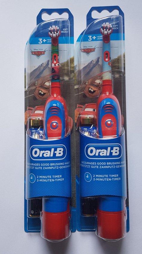 2 stuks Oral-B Stages Power Kids elektrische tandenborstel  op batterijen met Disney Cars - DUO pack