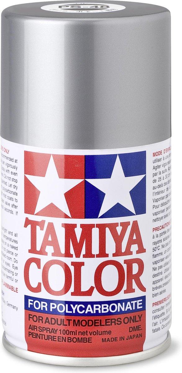 TAMIYA PS-48 Semi-glans zilver/aluminium (spuitbus 100ml)