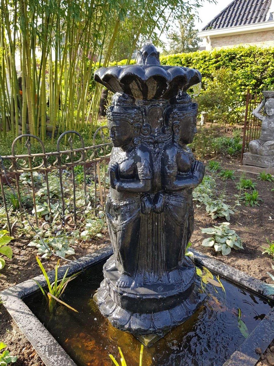 Dewi Getong 3 Voudig Spuitfiguur   Waterornamenten   Boeddha Fonteinen   1 Jaar Garantie