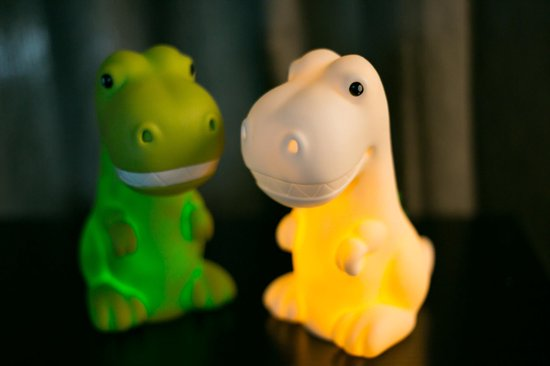 Dhink Dinosaurus lampje LED Multikleur licht met Timerfunctie Oplaadbaar – Groen