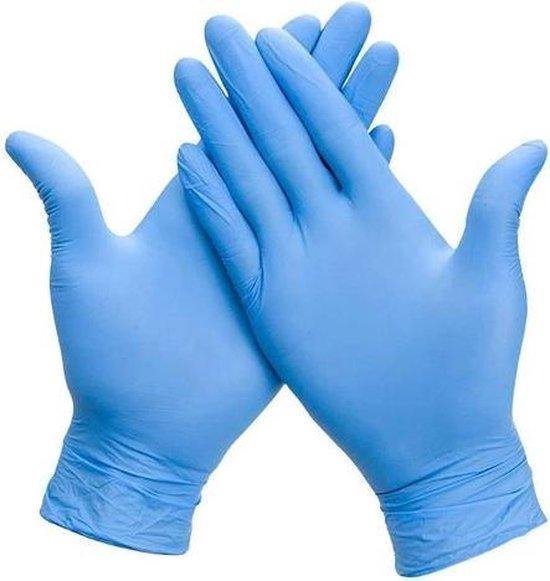 Wegwerp Handschoen Nitril Ongepoederd Latexvrij Large 100 Stuks/Doos Blauw - Maat L – Wegwerphandschoenen - Poedervrij - Latex free