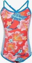 Osaga meisjes badpak met bloemenprint - Blauw - Maat 122/128