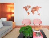 Mimi Innovations Muurdecoratie Wereldkaart Hout 130 X 78 Cm Bruin
