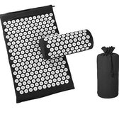 Good Days ® Acupressuur Mat - Acupressure - Spijkermat met kussen - Yoga Mat - Zwart - 70 cm x 45 cm