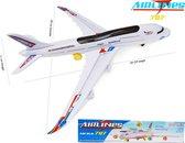 Airbus speelgoed vliegtuig -Senior Aviation Airways 787 XL Dreamliner - met led licht + geluid en kan bewegen 59CM (incl. batterijen)