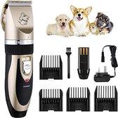 Professionele Dierentondeuse - Scheerapparaat  voor Honden en Katten - Trimmer - 4 opzetstukken - Oplaadbaar - Draadloos - Stil - Verschillende haar en vachtlengtes - Haartrimmer - Hondentrimmer - Honden trimmer - Honden Knippen - Haren knippen