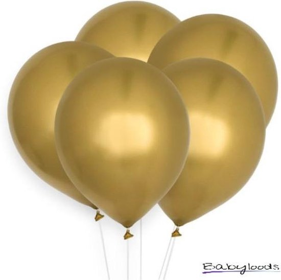 Luxe ballonnen metallic goud - verjaardag versiering - 10 stuks