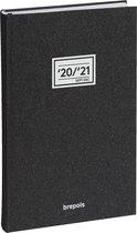 Brepols Schoolagenda 2020-2021 • 16 Mnd • Saturnus • Essenz New • Antraciet • 20,8 x 13,3 cm