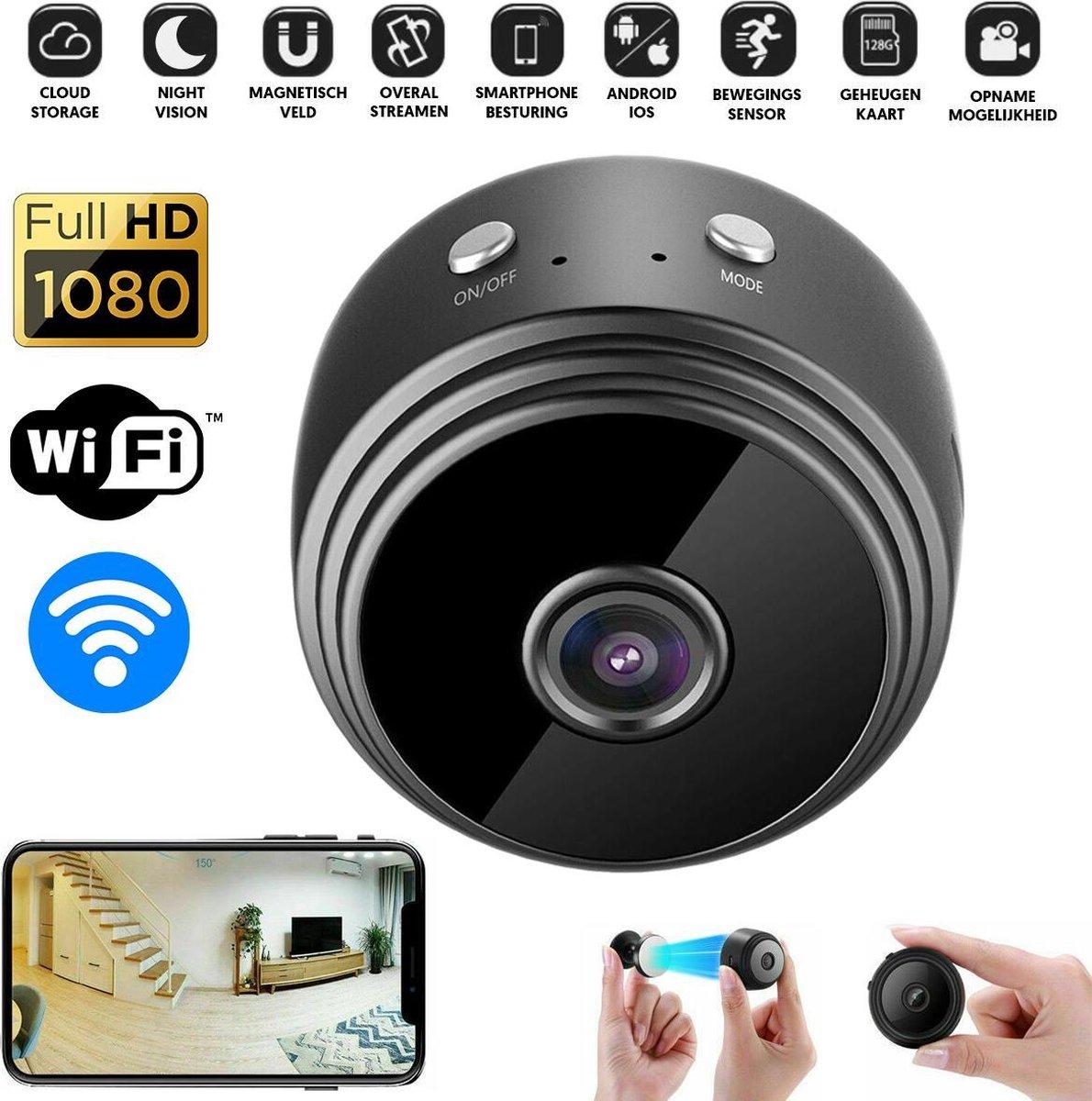 PIXMY - Smart Spy Camera 300mAh - Verborgen Camera - Mini Camera - Spy Cam - WiFi 1080 HD - Incl. SD