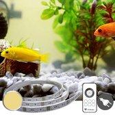 Led strip 10 t/m 50 cm Warm Wit voor aquarium- Complete set