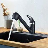 Vips Keukenkraan KF-18, Zwart met uittrekbare sproeikop incl 2 waterstanden