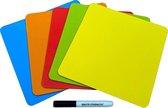 Whiteboard Scrum Magneten met stift - 25 stuks - Mix - 5 kleuren - 7,5 x 7,5cm - Post it notes voor Magneetbord en Koelkast