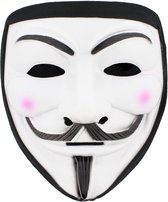 Attitude Holland Masker Anonymous/Guy Fawkes Wit/Zwart