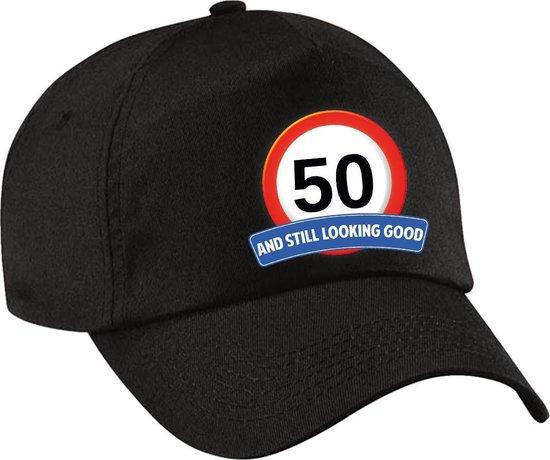 50 and still looking good pet / cap zwart voor dames en heren - 50 jaar - baseball cap - Abraham / Sarah - verjaardagscadeau petten / caps