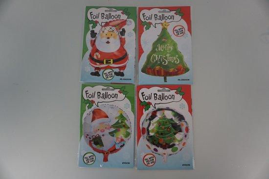 Kerst ballon set (4 stuks)
