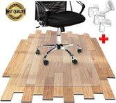 Luxergoods bureaustoelmat EVA (biologisch) - Inclusief hoekbeschermers - bureau stoelmat - Let Op!! 100x70 cm - Vloermat bureaustoel - Antislipmat - Vloerbeschermer - Burostoelmat - Stoel onderlegger - Beschermt harde vloer en vloerbedekking