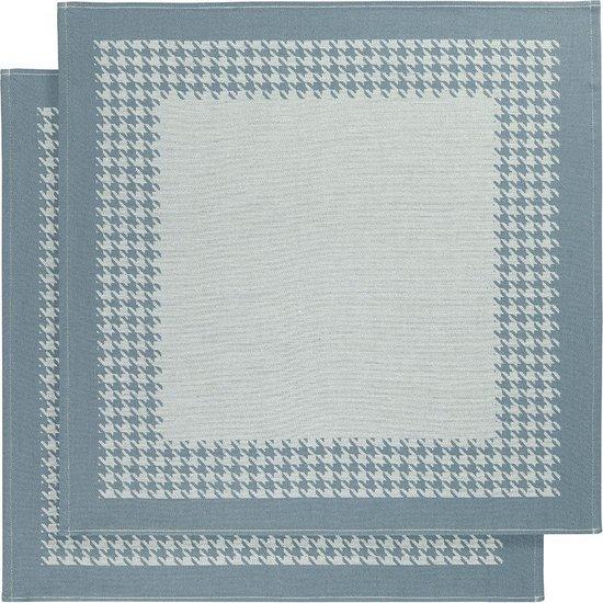 De Witte Lietaer Pied de Poule - Theedoek - 66x66 cm - Set van 2 - Oxyde