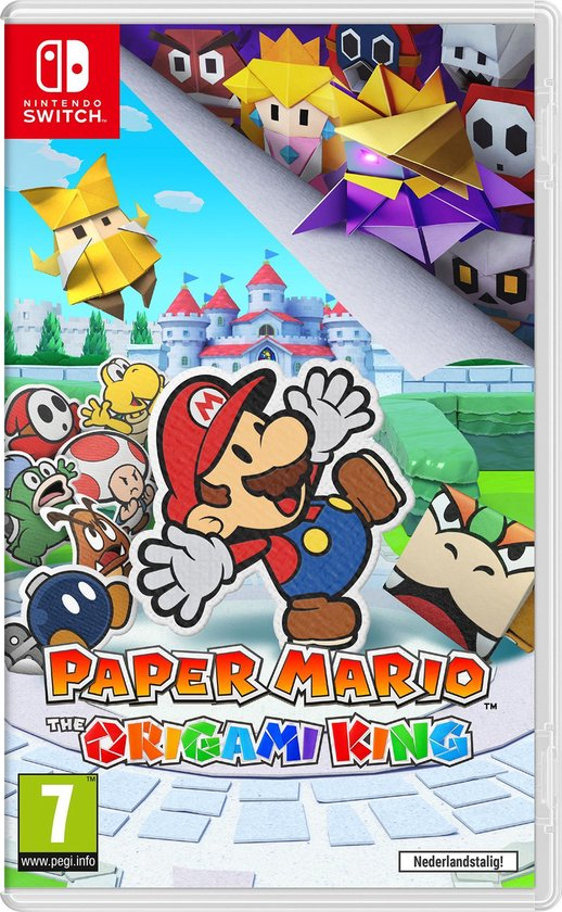 Cover van de game Paper Mario: The Origami King - Switch