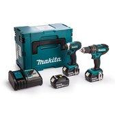 Makita Combiset DLX2131JX1 - 18 V -  3x 3.0Ah - Li-ion - In Mbox