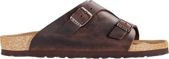 Birkenstock Zürich Habana Leer Narrow-fit Slipper