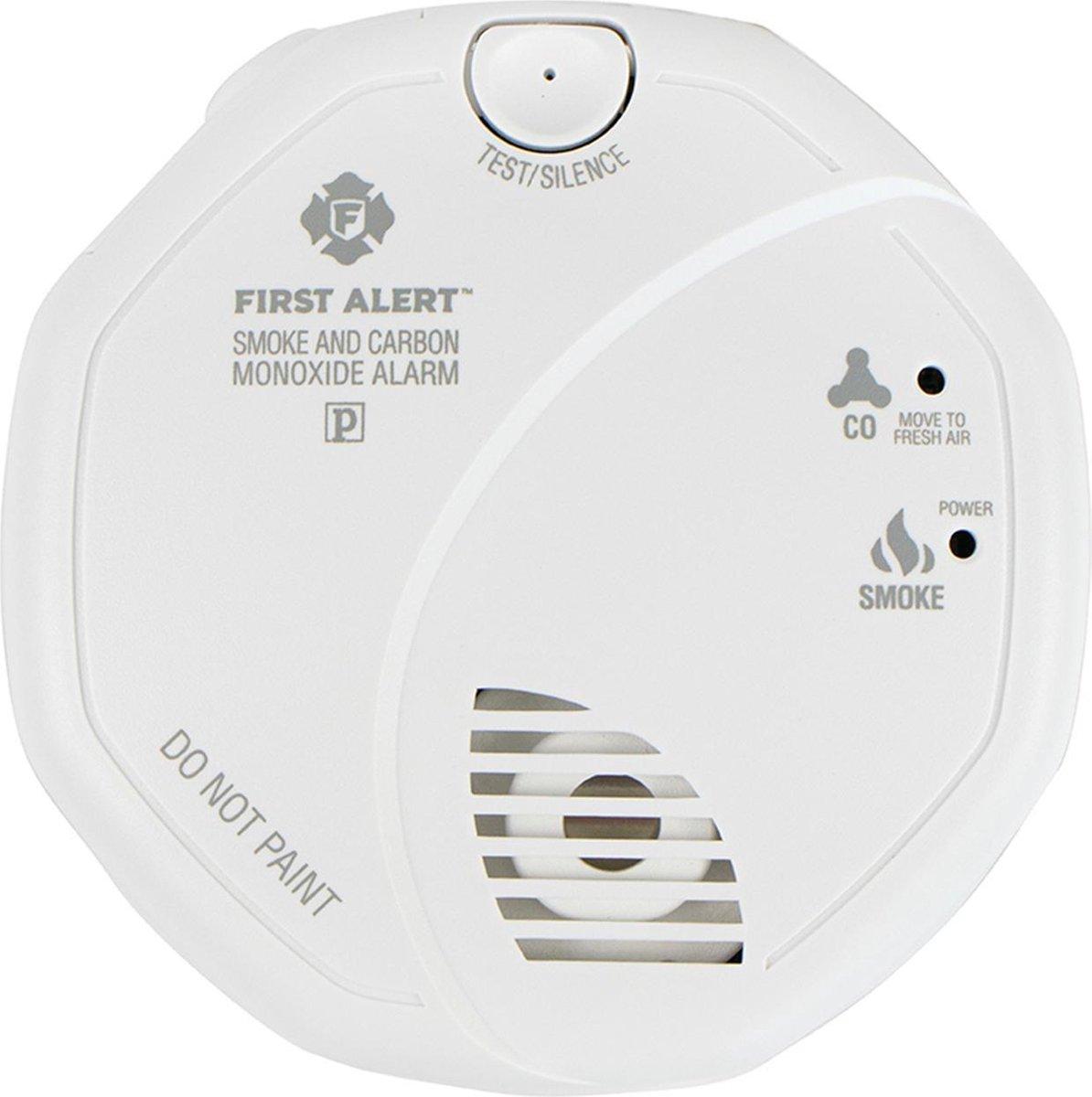First Alert SCO5CE Combimelder - Rookmelder en  koolmonoxidemelder in één (inclusief batterij)