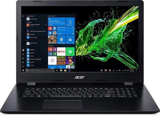 Acer Aspire 3 A317-51K-36MN Notebook Zwart 43,9 cm (17.3'') 1600 x 900 Pixels Intel® 8de generatie Core™ i3 4 GB DDR4-SDRAM 1256 GB HDD+SSD Wi-Fi 5 (802.11ac) Windows 10 Home