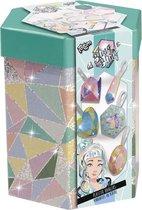 Totum Bling Bling -  gipsset - diamanten en edelstenen gipshangers maken en beschilderen - in luxe bewaarkoker