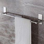 Handdoekrek Badkamer & Keuken - Zelfklevend - Handdoekstang Zilver | 60 CM