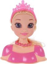 Free And Easy Kaphoofd Blond Haar Meisjes Roze 11-delig