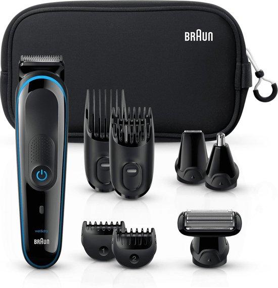 Braun Multi Grooming Kit MGK3980 Zwart / Blauw - 9-in-1 Precisietrimmer voor baard- en haarstyling