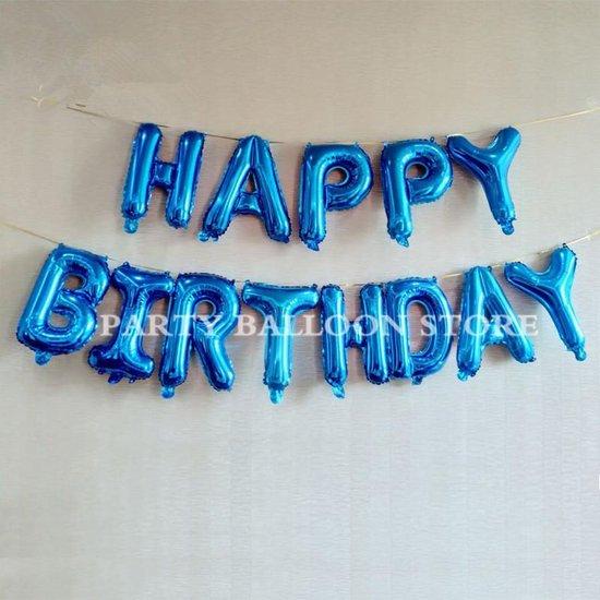 Happy Birthday Ballonnen | Verjaardags ballonnen | Confetti ballonnen | Blauwe ballonnen