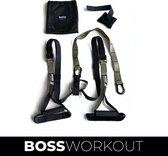 BOSS WORKOUT®️ Suspension Trainer PRO Professionele TRX - Fitness/Crossfit/Gym en Krachttraining - Sport zonder Gewichten - Home en Outdoor Workout voor Lichaam Balans en Core - Exclusieve kleuren