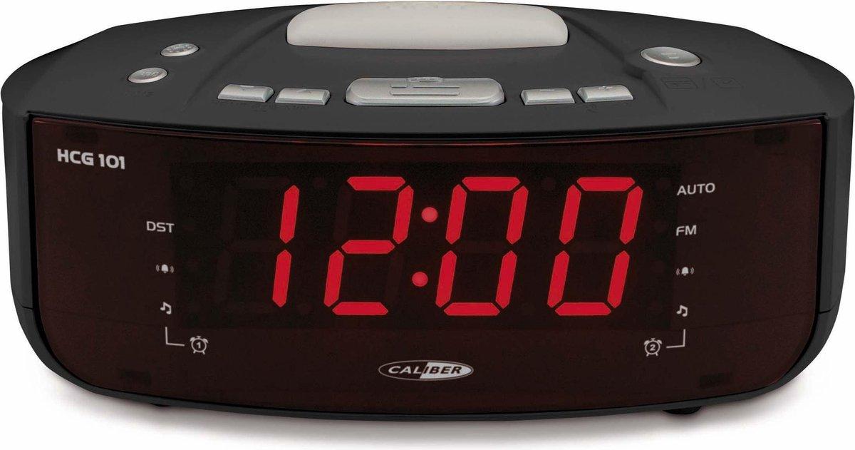 Caliber HCG101 - Wekkerradio Wake Up Light - Zwart