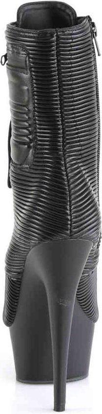 Pleaser Enkellaars -37 Shoes- Delight-1020pk Us 7 Zwart XL8QJQ