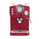 IKOHS Retro Espressomachine – Retro koffiezetapparaat – Rood - Twee koffiearmen - Cappuccinoapparaat