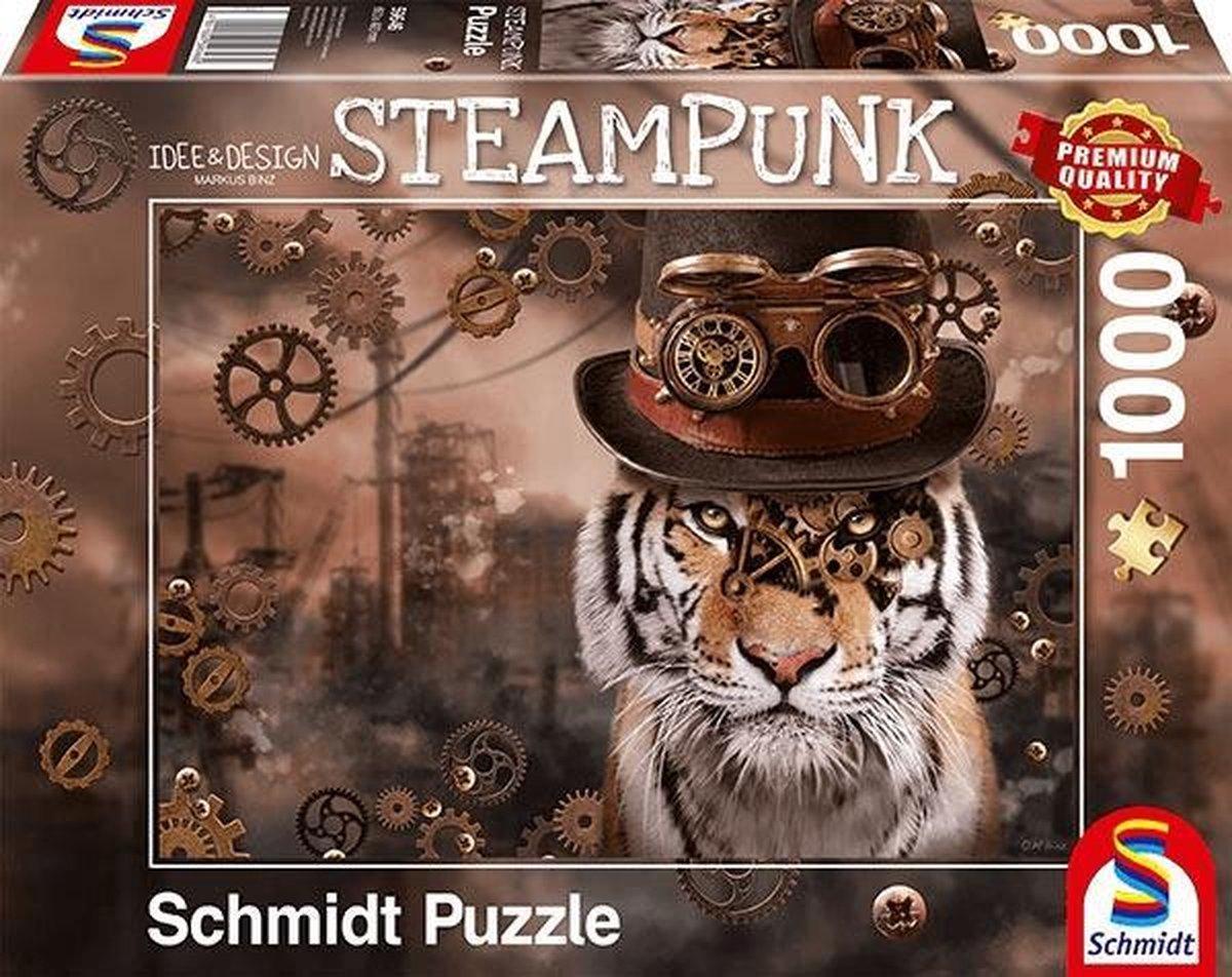 Steampunk Tijger, 1000 stukjes Puzzel