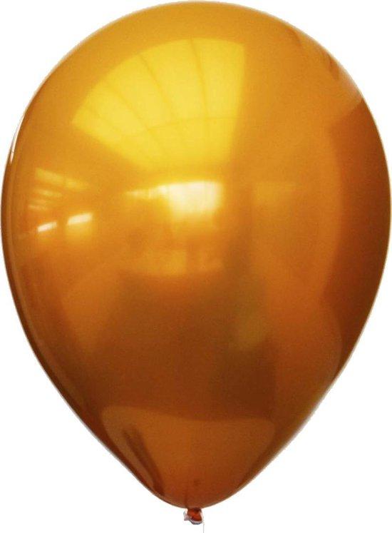 Ballon Titanium Oranje 28 centimeter, 12 stuks