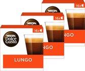NESCAFÉ® Dolce Gusto® Lungo Koffiecups - 3 doosjes à 16 capsules geschikt voor 48 kopjes
