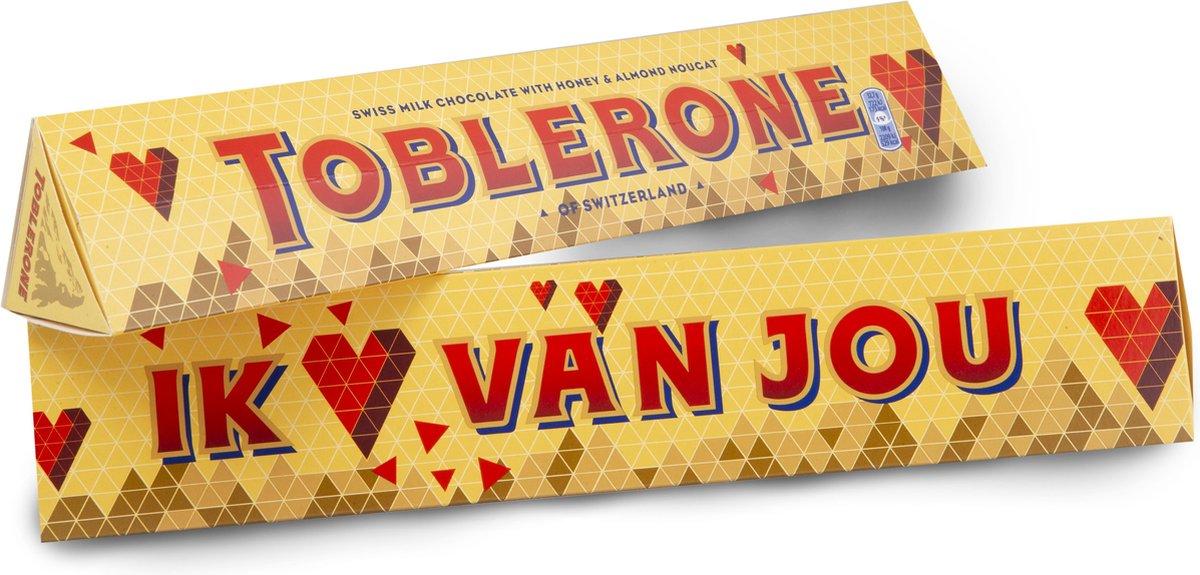 Toblerone Chocolade Cadeau - Ik ♥ van jou 360g