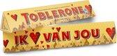 Toblerone Chocolade Cadeau - Ik ♥ van jou - Vaderdag - 360 gram