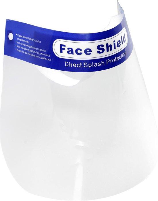 Gezichtscherm 5 stuks | Spatmasker Gezichtsmasker Beschermkap Gelaatscherm | Herbruikbaar Ontsmetbaar